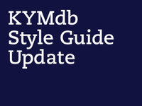 KYMdb Style Guide (old)