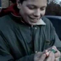 Tom lights a firecracker