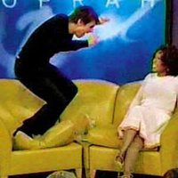 Tom Cruise Jumps on Oprah's Couch