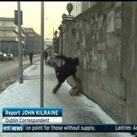 hate to be the fella that fell over on the RTE news...
