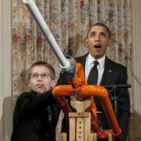 Obama Marshmallow Cannon