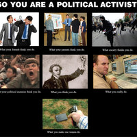 So you are a political activist huh?