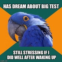 Dream test paranoia.