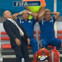 Alejandro Sabella's Falling Reaction