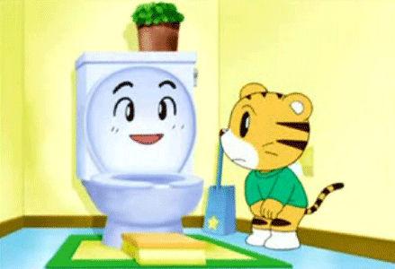 Japanese toilet training ad yoga