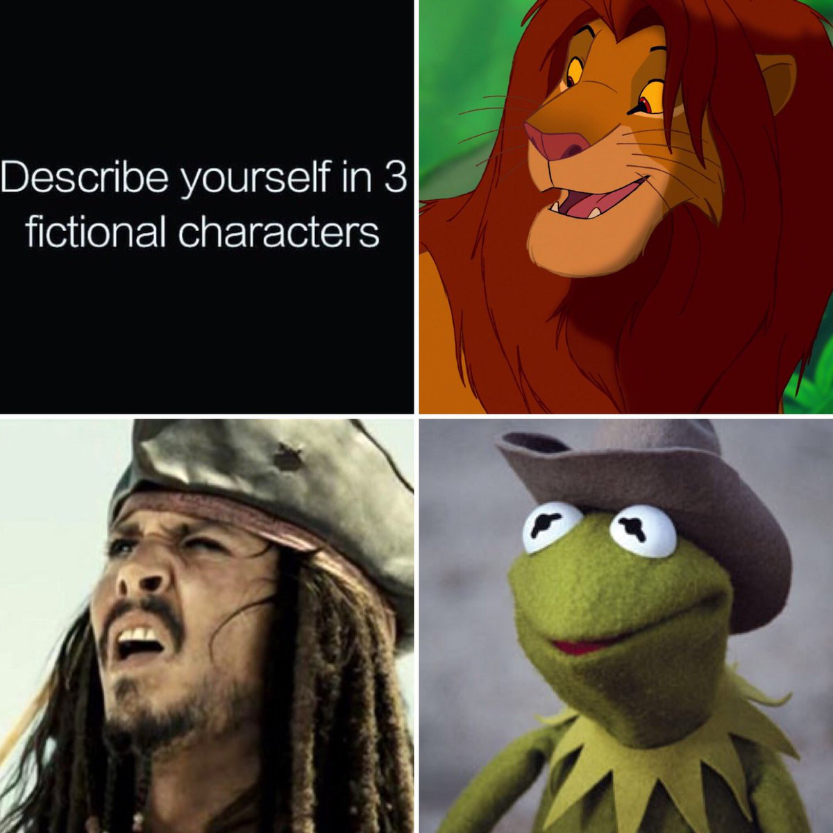 describe yourself in fictional characters know your meme describe yourself in 3 fictional characters