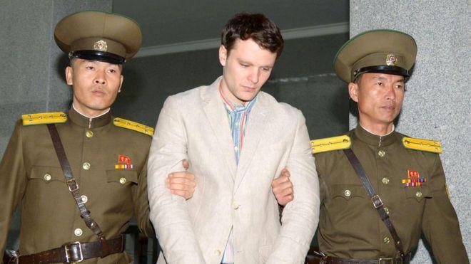▲ 지난 2015년 북한에 체포된 오토 웜비어. 올해 6월 혼수상태로 석방된 뒤, 엿새 만에 사망했다