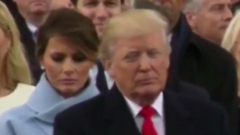 Melania Trump's Inauguration Day Frown