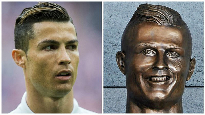 Failed Ronaldo Bust Keeps Twitter Laughing