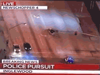 A Surreal Police Chase in Inglewood