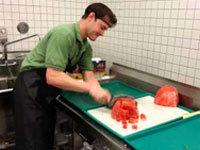 Cutting a Watermelon in 21 Seconds
