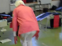 A 90-Year-Old Lady's Double Backflip