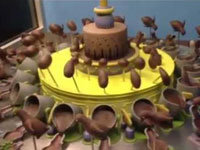 Spinning Chocolate Zoetrope Illusion