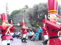 Toy Soldier Falls in Disney Parade