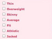 OKCupid's Body Type Filter System