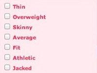 OKCupid's Body Type Filter System