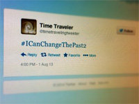 No Evidence of Time-Travelers on Twitter