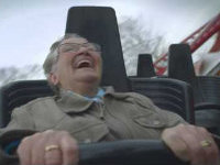 Grandma's First Roller Coaster Ride Ever
