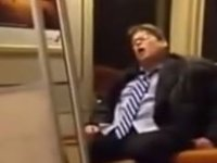 Drunk Man Sings Lil Jon on DC Metro Train