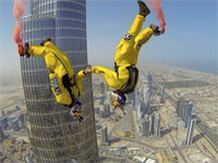 BASE Jumping from the World's Tallest Building