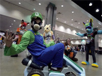Luigi Brings His Death Stare to Anime Expo