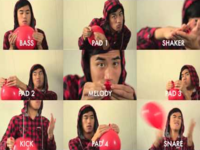 """""""99 Red Balloons"""" Played With Red Balloons"""