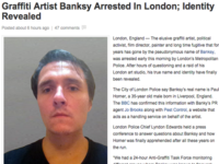Fake News Site Spreads Banksy Arrest Hoax