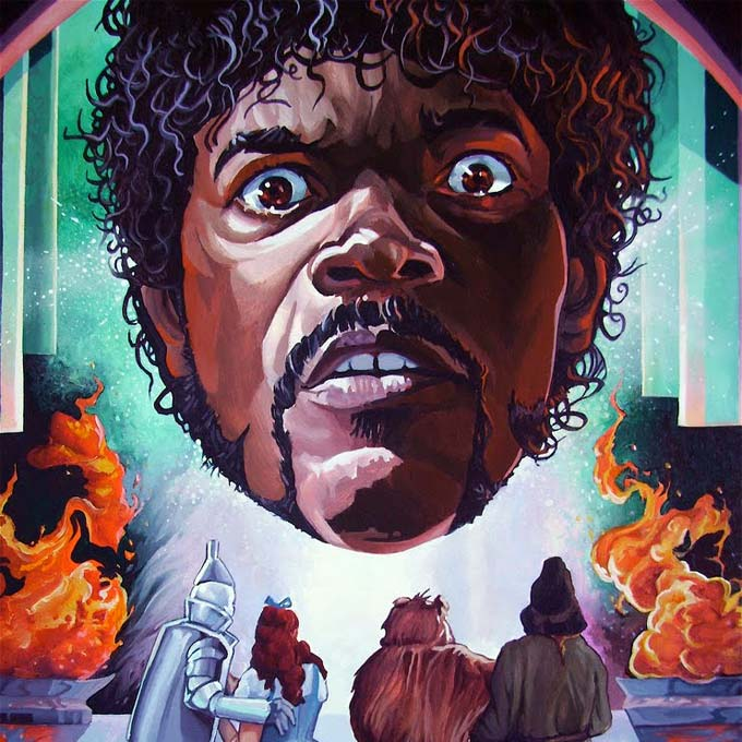 Samuel Jackson as the Wizard of Oz