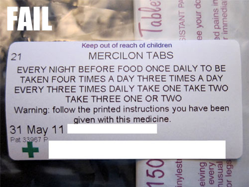 Prescription FAIL