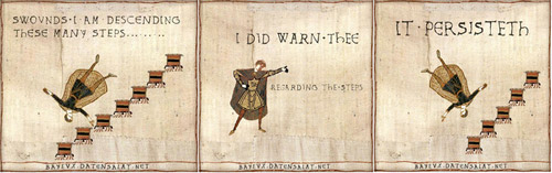 Bayeux Tapestry: I Told You About Stairs