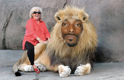 Paula Deen Riding Snoop Lion