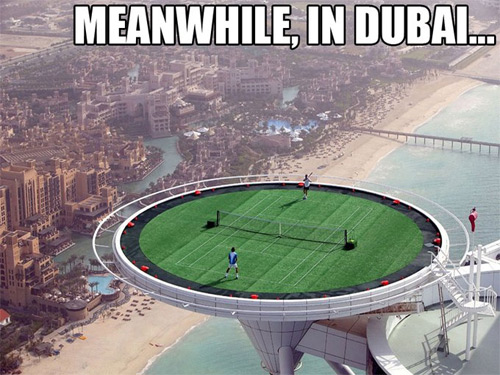 The World's Highest Tennis Court