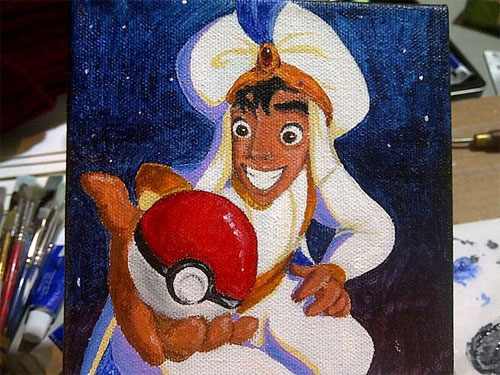 Crossover Fan Art: Pokemon Aladdin