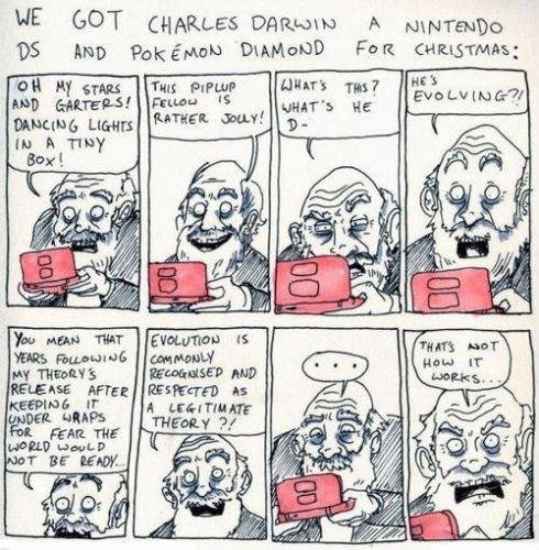 Charles Darwin Plays Pokemon