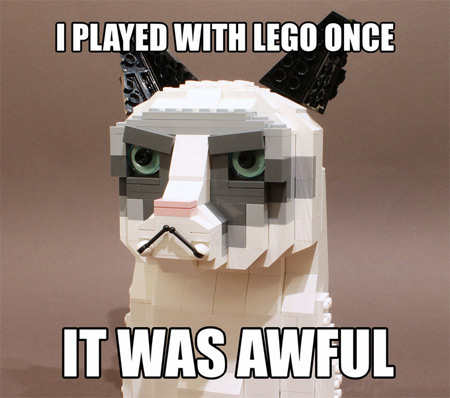 """Grumpy Cat Says """"Step On This"""""""