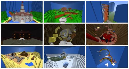 Minecraft Renderings of Super Mario 64
