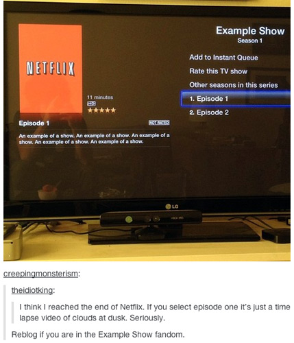 Netflix Original Series: Example Show