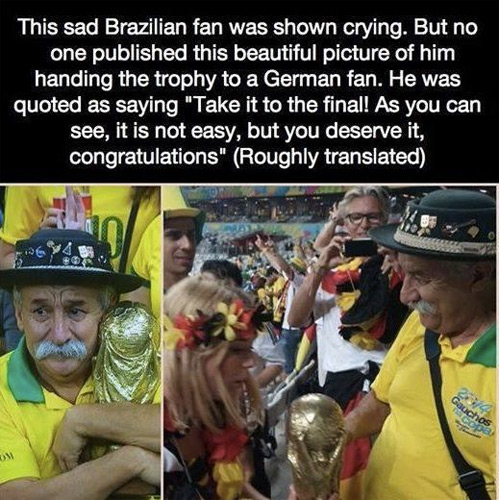 Sad Brazilian Fan Restores Faith in World Cup