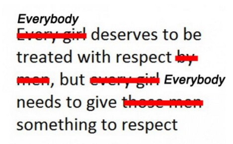 Respect, It's a Two-Way Street