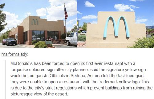McDonalds' Turquoise Store in Sedona, Arizona