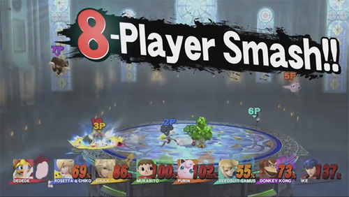 SSB4 Battles Will Support Up to Eight Players