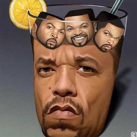 How About a Glass of Ice-T with Ice Cubes?