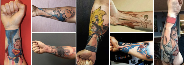 """Perfectly Placed """"Fist Up"""" Tattoos"""