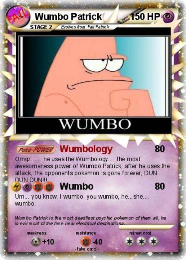 wumbo patrick star quotes quotesgram