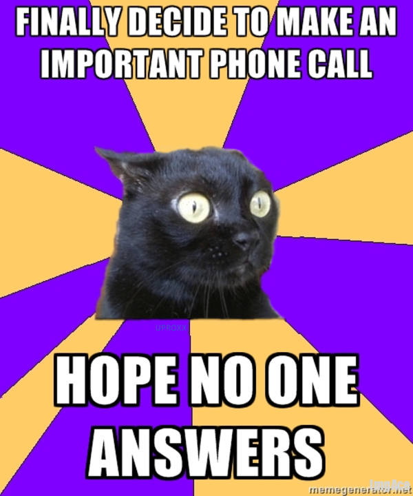 chronic anxiety cat meme-#9