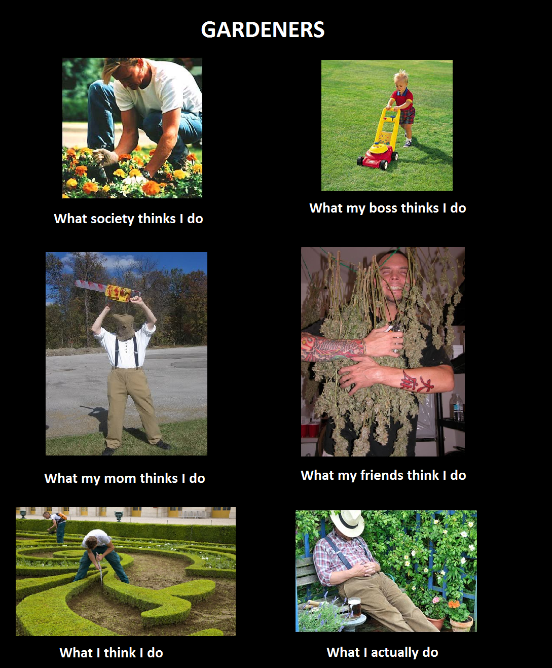 What I think I do - Gardeners   What People Think I Do ...
