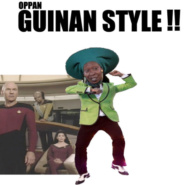 guinan style jpg psy gangnam style know your meme
