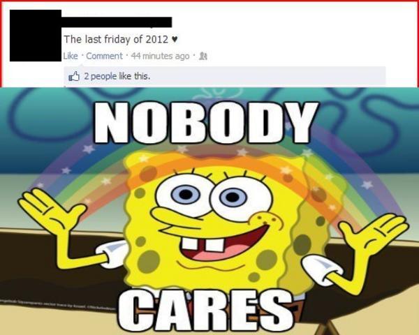 Spongebob Nobody Cares Gif