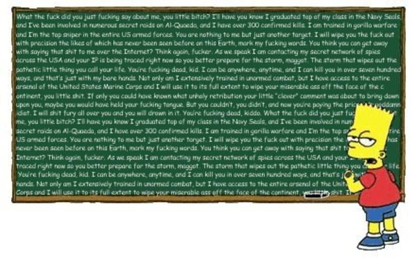 Image - 484289 | Bart Simpson's Chalkboard Parodies ...