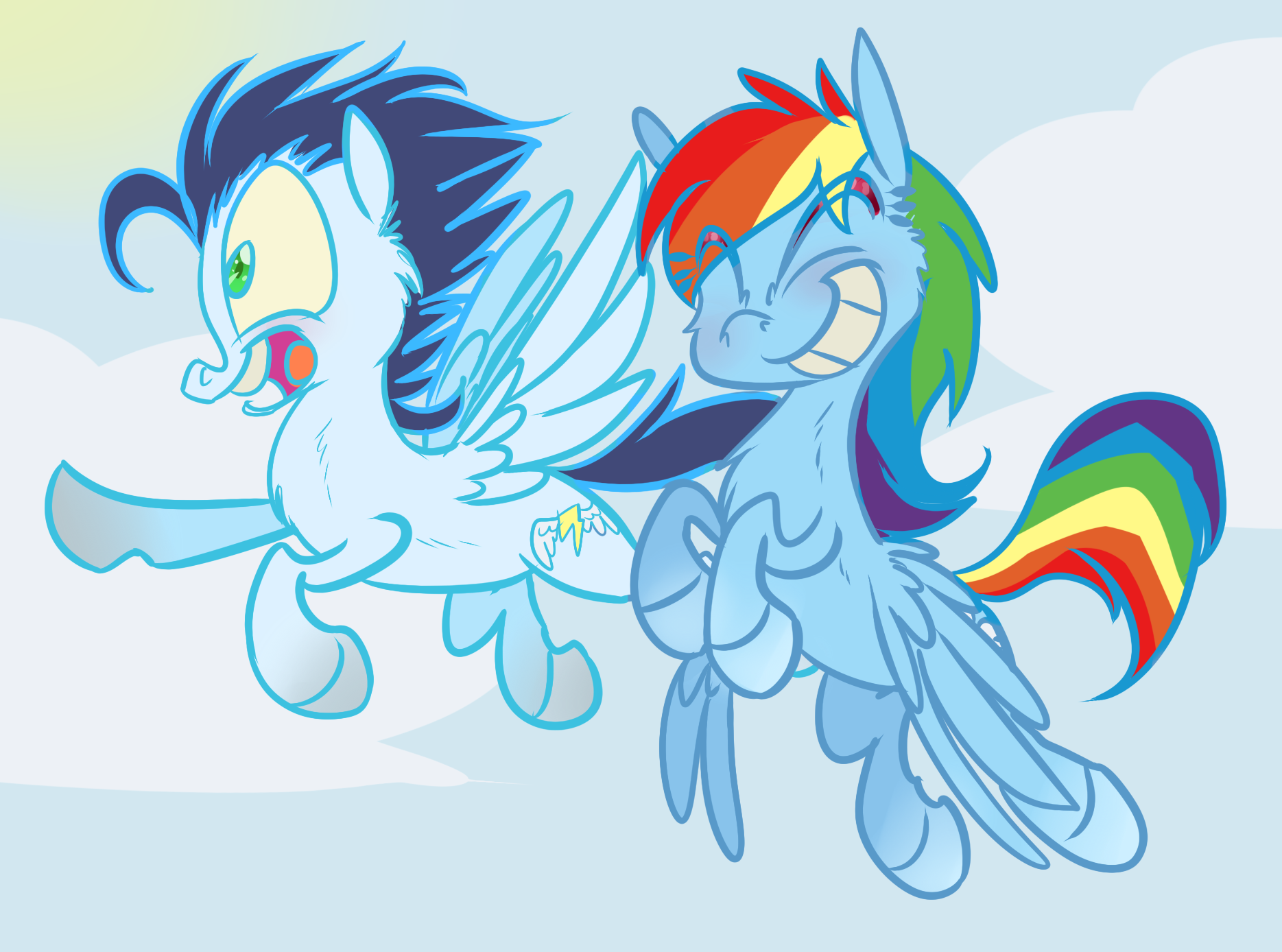 Flying with Soarin' and Dashie | My Little Pony ...